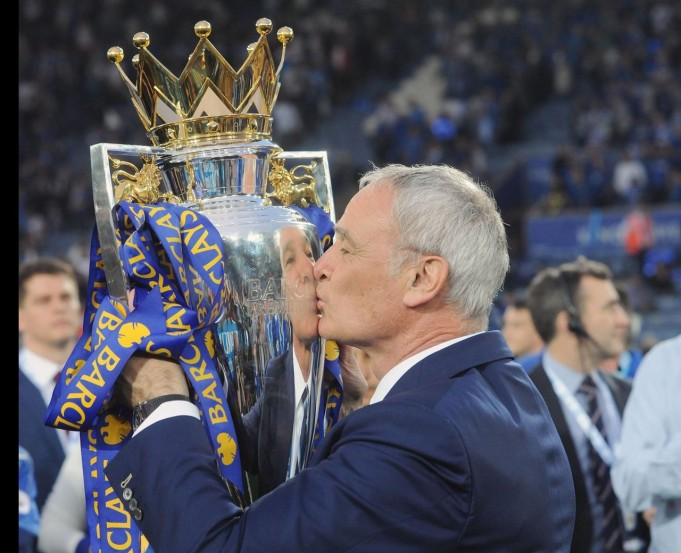 Claudio Ranieri Premier League winner with Liecester (Photo: Insidefoto.com)