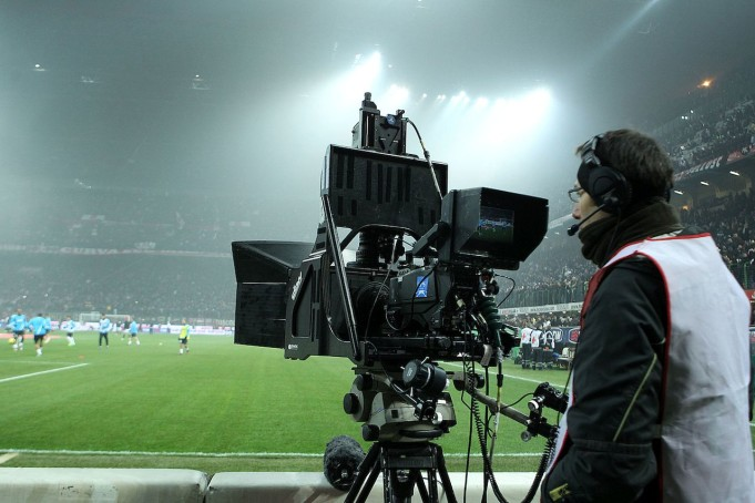 A camera on the pitch in Milan (Photo: Insidefoto.com)