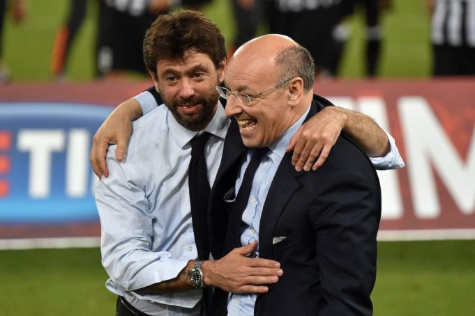 Juventus'president Agnelli and the CEO Marotta