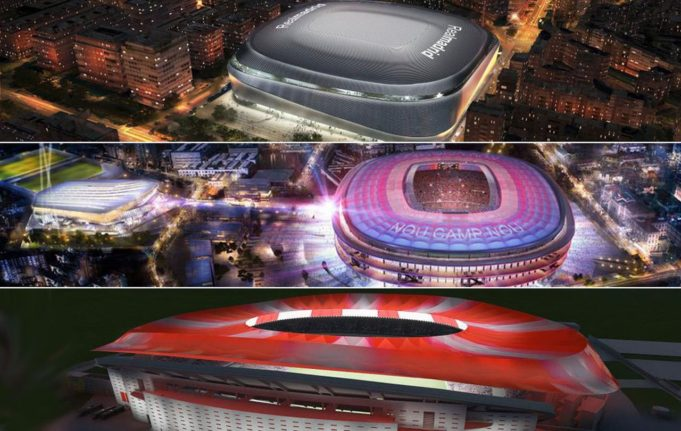 Real Madrid, Barcelona and Atletico Madrid new stadiums (Photo: Marca.com)