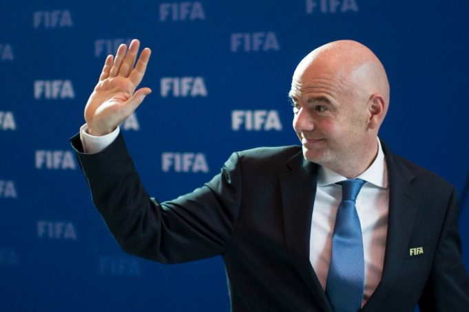 FIFA- President Infantino - Wanda group is ready to host China's first official football tournament. (Insidefoto)