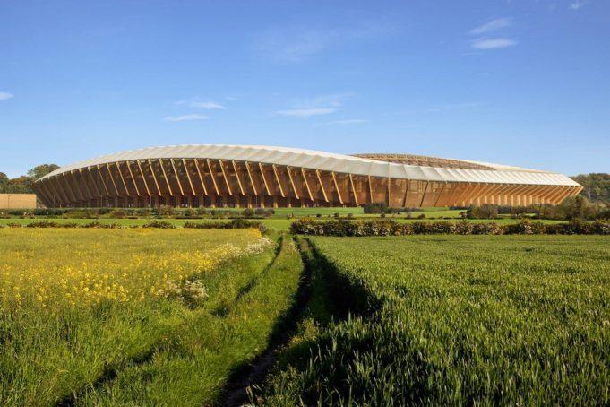 Stadium made of wood