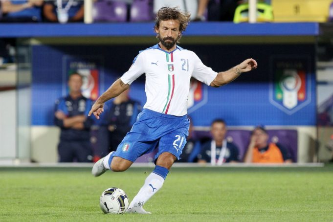 Andrea Pirlo with the Italian national team