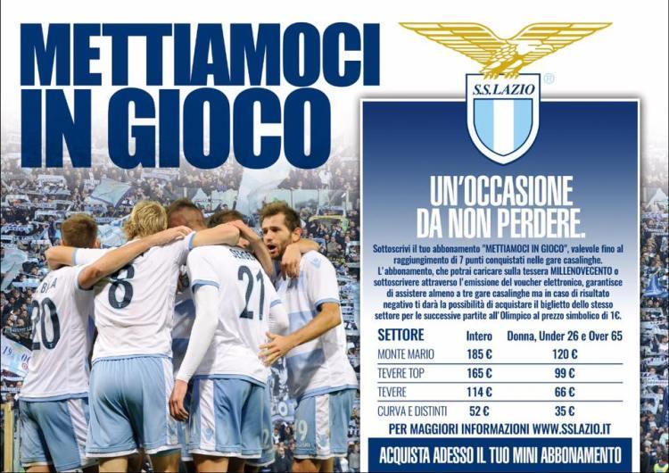 Lazio tickets sales