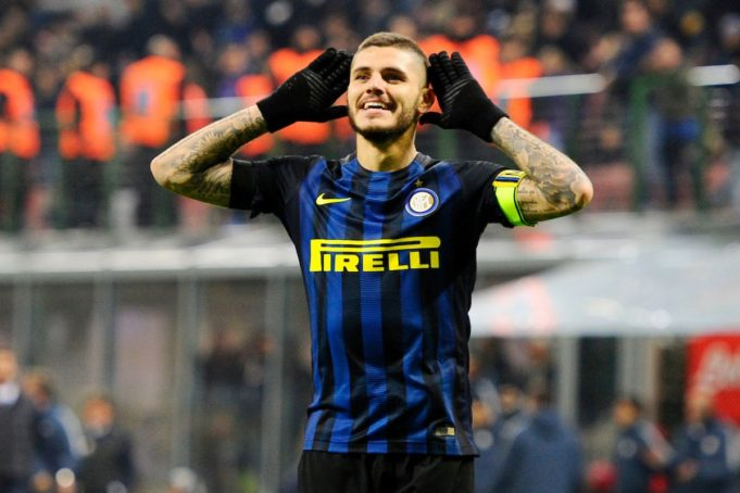 Mauro Icardi celebrates a goal against Crotone-Photo: Giuseppe Celeste / Insidefoto