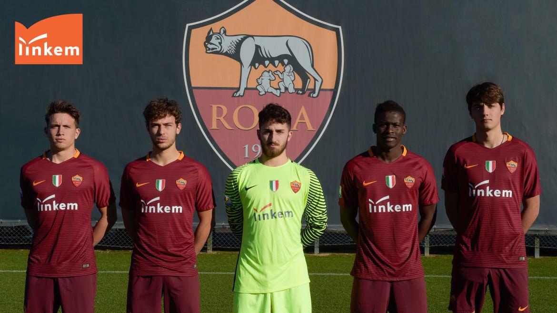 Roma Primavera shirts featuring new sponsors Linkem (asroma.com)