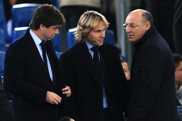 Andrea AGNELLI Juventus President, Pavel NEDVED, Giuseppe MAROTTA CEO Foto Insidefoto Andrea Staccioli