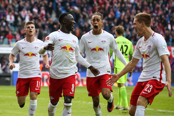 Goal celebration RB Leipzig Football Bundesliga Christian Schroedter/Insidefoto