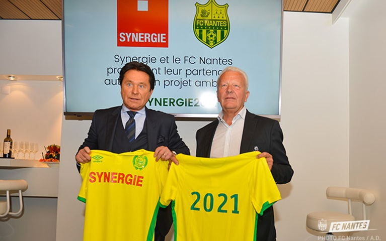 Nantes recently renewed their partnership with long-term sponsors Synergie