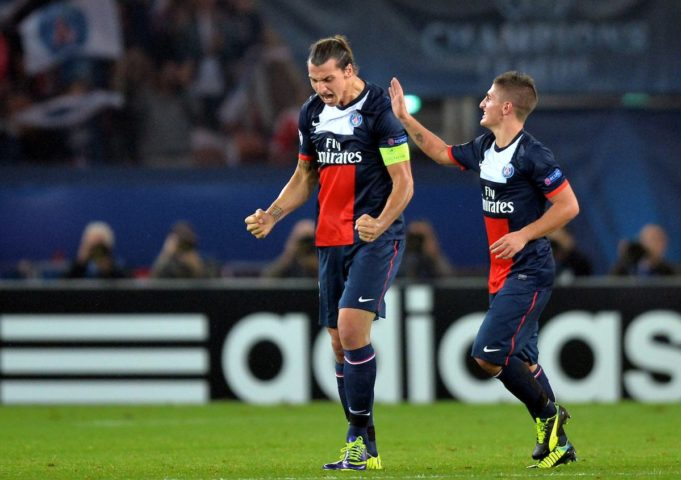 Zlatan Ibrahimovic and Marco Verratti (Anthony BIBARD / FEP / Panoramic / Insidefoto)